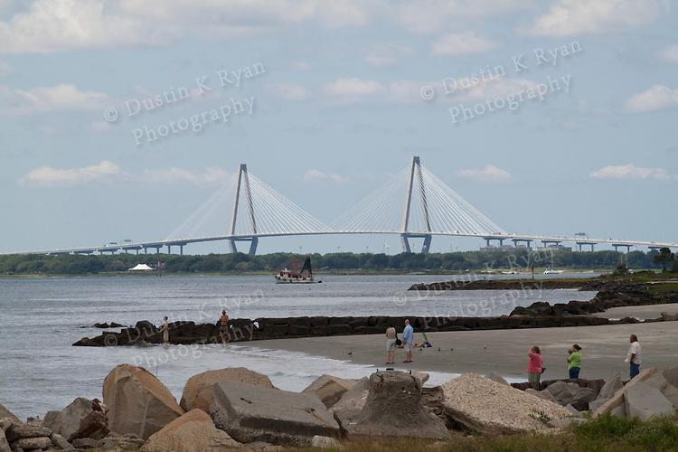 Arthur Ravenel Jr Bridge From Sullivans Island SC