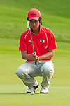 SHENZHEN, CHINA - OCTOBER 31:  Chang-Won Han of South Korea lines up a putt on the 15th hole during the day three of Asian Amateur Championship at the Mission Hills Golf Club on October 31, 2009 in Shenzhen, Guangdong, China.  (Photo by Victor Fraile/The Power of Sport Images) *** Local Caption *** Chang-Won Han