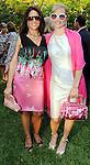Karen Pulaski and Seita Jongebloed at the Pink on the Green cocktail party and picnic at The Houstonian Sunday April 11,2010. (Dave Rossman Photo)