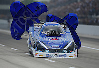 Apr. 28, 2012; Baytown, TX, USA: NHRA funny car driver Robert Hight during qualifying for the Spring Nationals at Royal Purple Raceway. Mandatory Credit: Mark J. Rebilas-