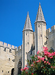 France, Provence, Avignon: Towers from Palais Des Papes | Frankreich, Provence, Avignon: Tuerme des Papstpalasts
