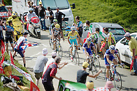 Vincenzo Nibali (ITA/Astana) up the Port de Balès (HC/1755m/11.7km/7.7%)<br /> <br /> 2014 Tour de France<br /> stage 16: Carcassonne - Bagnères-de-Luchon (237km)
