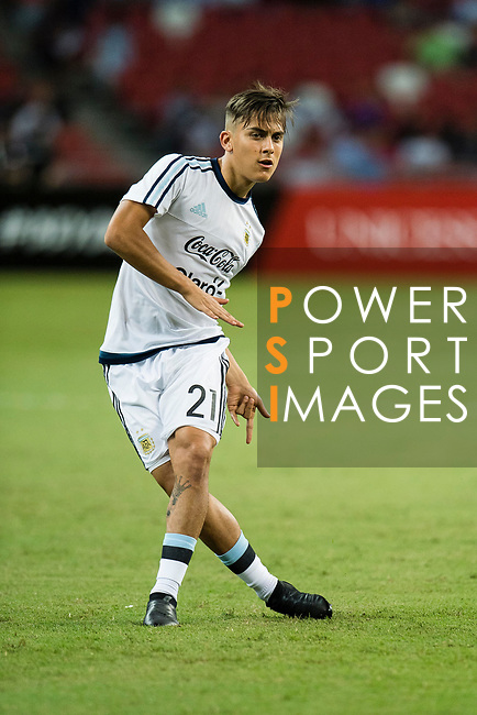 Paulo Dybala of Argentina warming up during the International Test match between Argentina and Singapore at National Stadium on June 13, 2017 in Singapore. Photo by Marcio Rodrigo Machado / Power Sport Images