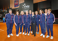 The Hague, The Netherlands, Februari 8, 2020,    Sportcampus, FedCup  Netherlands -  Balarus, Lines woman<br /> Photo: Tennisimages/Henk Koster