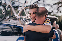 Marcel Kittel (DEU/QuickStep Floors) celebrating his 4th victory in 10 stages with the team staff upon his return at the team hotel<br /> <br /> 104th Tour de France 2017<br /> Stage 10 - Périgueux › Bergerac (178km)