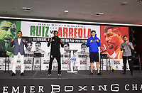 LOS ANGELES, CA - APRIL 29: (L-R) Eduardo Ramirez, Erislandy Lara, Thomas LaManna, and Isaac Avelar attend the undercard press conference for the Andy Ruiz Jr. vs Chris Arreola Fox Sports PBC Pay-Per-View in Los Angeles, California on April 29, 2021. The PPV fight is on May 1, 2021 at Dignity Health Sports Park in Carson, CA. (Photo by Frank Micelotta/Fox Sports/PictureGroup)