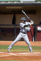 Chris Erwin (15) of the Kennesaw State Owls at bat against the Winthrop Eagles at the Winthrop Ballpark on March 15, 2015 in Rock Hill, South Carolina.  The Eagles defeated the Owls 11-4.  (Brian Westerholt/Four Seam Images)