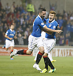 Nicky Clark celebrates his goal for Rangers with Lewis Macleod