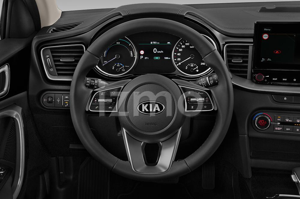 Car pictures of steering wheel view of a 2020 KIA XCeed-PHEV Business-Line 5 Door SUV Steering Wheel