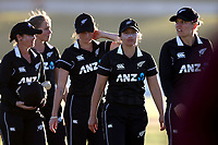 4th April 2021; Bay Oval, Taurange, New Zealand;  The White Ferns walk from the field after their loss during the 1st women's ODI White Ferns versus Australia Rose Bowl cricket match at Bay Oval in Tauranga.