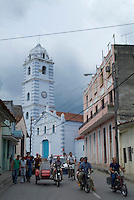 The Iglesia Parroquial Mayor del Espiritu Santo, one of Cuba's oldest churches, in the historical centre of Sancti Spiritus, Cuba.