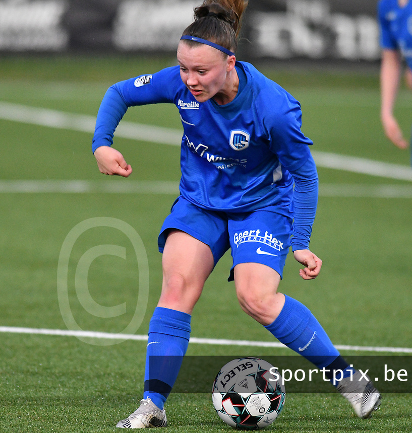 Fleur Pauwels (66) of KRC Genk Ladies and SV Zulte-Waregem on the 7 th matchday of play off 2 in the 2020 - 2021 season of Belgian Scooore Womens Super League , friday 14 th of May 2021  in Genk , Belgium . PHOTO SPORTPIX.BE   SPP   JILL DELSAUX
