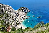 The beach Agia Eleni in Kefalonia island, Greece