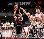 Lee Melymick, Tokyo 2020 - Wheelchair Basketball // Basketball en fauteuil roulant.<br /> Canada takes on Japan in a men's preliminary game // Le Canada affronte le Japon dans un match préliminaire masculin. 28/08/2021.