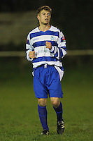 Tom Cowan of Ilford - Clapton vs Ilford - Essex Senior League Football at the Old Spotted Dog Ground, Upton Park, London - 01/10/13 - MANDATORY CREDIT: Gavin Ellis/TGSPHOTO - Self billing applies where appropriate - 0845 094 6026 - contact@tgsphoto.co.uk - NO UNPAID USE