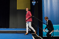 """5. Bundesparteitag der rechtspopulistischen Partei """"Alternative fuer Deutschland"""", AfD, in Stuttgart.<br /> Die Partei will auf dem Parteitag ein Parteiprogramm beschliessen.<br /> Vlnr.: Beatrix Amelie Ehrengard Eilika von Storch, Europaabgeordnete und stellvertretende Parteivorsitzende; Alice Weidel, Mitglied im Parteivorstand und Mitglied der Friedrich August v. Hayek-Gesellschaft e.V.<br /> 30.4.2016, Stuttgart<br /> Copyright: Christian-Ditsch.de<br /> [Inhaltsveraendernde Manipulation des Fotos nur nach ausdruecklicher Genehmigung des Fotografen. Vereinbarungen ueber Abtretung von Persoenlichkeitsrechten/Model Release der abgebildeten Person/Personen liegen nicht vor. NO MODEL RELEASE! Nur fuer Redaktionelle Zwecke. Don't publish without copyright Christian-Ditsch.de, Veroeffentlichung nur mit Fotografennennung, sowie gegen Honorar, MwSt. und Beleg. Konto: I N G - D i B a, IBAN DE58500105175400192269, BIC INGDDEFFXXX, Kontakt: post@christian-ditsch.de<br /> Bei der Bearbeitung der Dateiinformationen darf die Urheberkennzeichnung in den EXIF- und  IPTC-Daten nicht entfernt werden, diese sind in digitalen Medien nach §95c UrhG rechtlich geschuetzt. Der Urhebervermerk wird gemaess §13 UrhG verlangt.]"""