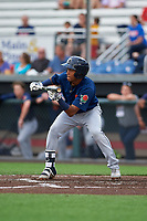 Connecticut Tigers Jose King (56) at bat during a NY-Penn League game against the Auburn Doubledays on July 12, 2019 at Falcon Park in Auburn, New York.  Auburn defeated Connecticut 7-5.  (Mike Janes/Four Seam Images)