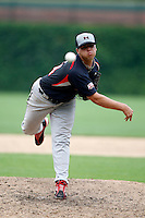 August 8, 2009:  Pitcher Drew Cisco (24) of the Baseball Factory team during the Under Armour All-America event at Wrigley Field in Chicago, IL.  Photo By Mike Janes/Four Seam Images