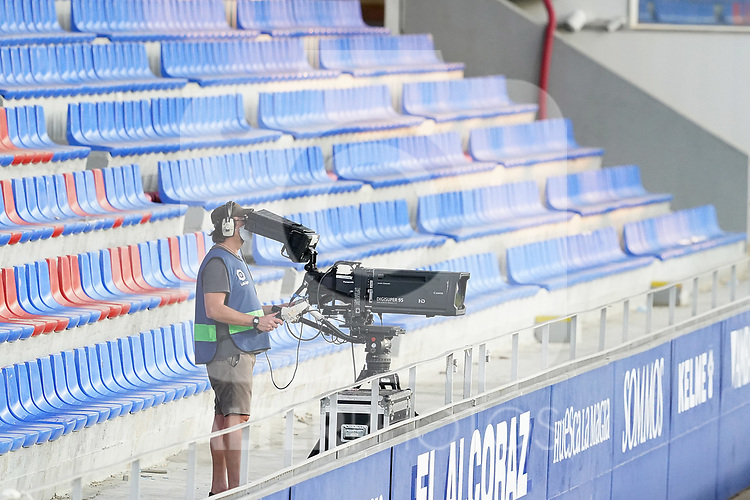 TV camera during La Liga match. September 30,2020. (ALTERPHOTOS/Acero)