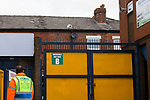 A Barnet clearance bounces out of Edgeley Park. Stockport County v Barnet, 07032020. Edgeley Park, National League. Photo by Paul Thompson.