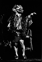 February 1982 File Photo - Un cabaret du temp Fou serie of shows at the Spectrum, featuring Michel Rivard and many other artists