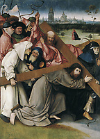 Bosch, Hieronymus Van Aeken, called (1450-1516). Ascent to Calvary. 1505 - 1507. SPAIN. Madrid. Royal Palace. Flemish art. Oil