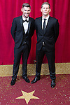 © Licensed to London News Pictures . 16/05/2015 .  The Palace Hotel , Manchester , UK . Kieron Richardson and James Sutton . The red carpet at the 2015 British Soap Awards , The Palace Hotel , Oxford Road , Manchester . Photo credit : Joel Goodman/LNP
