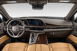 Stock photo of straight dashboard view of 2021 Cadillac Escalade Sport 5 Door SUV Dashboard
