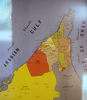 Map Showing the Emirates of the United Arab Emirates, March 1972.