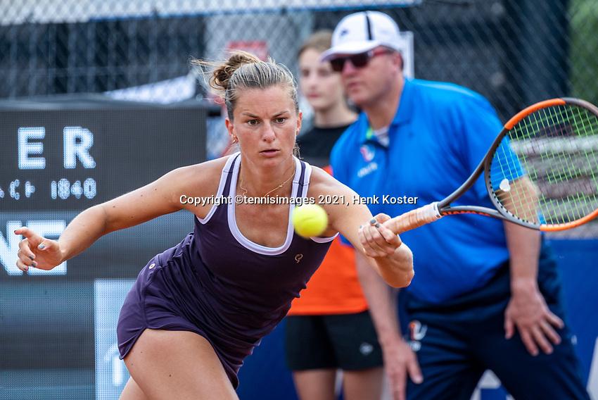 Amstelveen, Netherlands, 10 Juli, 2021, National Tennis Center, NTC, Amstelveen Womans Open, Singles final:  Quirine Lemoine (NED)<br /> Photo: Henk Koster/tennisimages.com