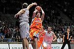 Power Electronics Valencia's Nando De Colo make the last and winner basket during ACB Supercup Semifinal match.September 24,2010. (ALTERPHOTOS/Acero)