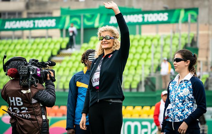 Ljiljana Ljubisic, Lima 2019 - Para Athletics // Para-athlétisme.<br /> Ljiljana Ljubisic competes in the women's discus throw F11 // Ljiljana Ljubisic participe au lancer du disque féminin F11. 24/08/2019.