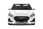 Car photography straight front view of a 2019 Hyundai Sonata SE 4 Door Sedan Front View