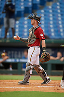 Austin Bode (24) of Columbus North High School in Columbus, IN during the Perfect Game National Showcase at Hoover Metropolitan Stadium on June 17, 2020 in Hoover, Alabama. (Mike Janes/Four Seam Images)