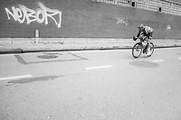 Tim Wellens (BEL/Lotto Soudal) on the attack in the streets of Seraing<br /> <br /> 103rd Liège-Bastogne-Liège 2017 (1.UWT)<br /> One Day Race: Liège › Ans (258km)