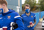 St Johnstone v Livingston…15.05.21  SPFL McDiarmid Park<br />Stevie May arrives at McDiarmid Park for the final league game of the season<br />Picture by Graeme Hart.<br />Copyright Perthshire Picture Agency<br />Tel: 01738 623350  Mobile: 07990 594431