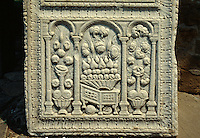 Bulgarien, Arbanasi, Christi Geburt-Kirche, Steinplatte