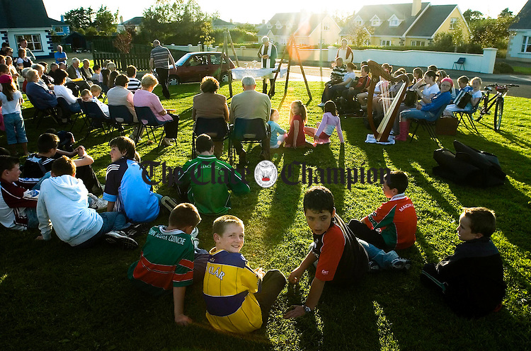 A view of some of the congregation during an open air mass at Ballymulcashel, Kilmurry as part of the Friends And Neighbour's Gathering, organised by the Sixmilebridge Parish Council. Photograph by John Kelly.