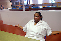 USA. Gatesville. 13th November 2007..Linda Carty in the visitation room at the Mountainview Unit , where she is on death row..©Andrew Testa