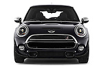 Car photography straight front view of a2015 MINI MINI COOPER S 3 Door Hatchback 2WD Front View