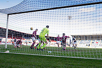 13th March 2021; Dens Park, Dundee, Scotland; Scottish Championship Football, Dundee FC versus Arbroath; Max Anderson of Dundee scores for 2-0 in the 83rd minute