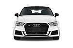 Car photography straight front view of a 2017 Audi S3 Premium-Plus 4 Door Sedan Front View