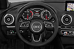 Car pictures of steering wheel view of a 2017 Audi A3-Cabriolet Design 2 Door Convertible Steering Wheel