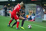 UEFA Women's Champions League 2018/2019.<br /> Semi Finals<br /> FC Barcelona vs FC Bayern Munchen: 1-0.<br /> Dominika Skorvankova vs Leia Ouahabi.