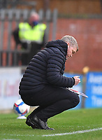 Hull City's Manager Grant McCann makes notes<br /> <br /> Photographer Dave Howarth/CameraSport<br /> <br /> The EFL Sky Bet League One - Rochdale v Hull City - Saturday 17th October 2020 - Spotland Stadium - Rochdale<br /> <br /> World Copyright © 2020 CameraSport. All rights reserved. 43 Linden Ave. Countesthorpe. Leicester. England. LE8 5PG - Tel: +44 (0) 116 277 4147 - admin@camerasport.com - www.camerasport.com