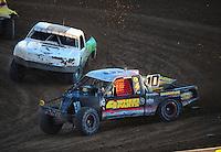 Dec. 10, 2011; Chandler, AZ, USA;  LOORRS pro 2 unlimited driver Greg Adler leads Jeff Geiser during round 15 at Firebird International Raceway. Mandatory Credit: Mark J. Rebilas-