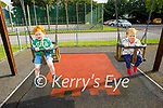 Enjoying the evening in the playground in the Listowel town park on Monday, l to r: Rachel and Jack Leahy from Listowel.