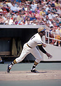 Pittsburgh Pirates Roberto Clemente (21) in action during a game from his 1972 season at Three Rivers Stadium in Pittsburgh, Pennsylvania.  Roberto Clemente played for 18 years, all with the Pirates, and was inducted to the Baseball Hall of Fame in 1973.