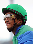 August 8, 2011.Rafael Bejarano after winning the Best Pal Stakes riding Creative Cause at the Del Mar Thoroughbred Club, Del Mar, CA