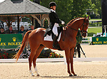 LEXINGTON, KY - April 27, 2017. #8 Houdini and Katie Ruppel from the USA finish in 4th place on the first day of Dressage at the Rolex Three Day Event at the Kentucky Horse Park.  Lexington, Kentucky. (Photo by Candice Chavez/Eclipse Sportswire/Getty Images)